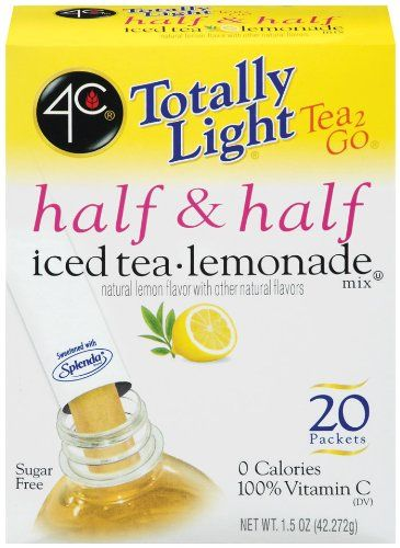 4c Totally Light Tea 2 Go Half Half Iced Tea Lemonade Sugar Free 20count Pack Of 3 Click Image For More Details Iced Tea Lemonade Iced Tea Iced Tea Drinks