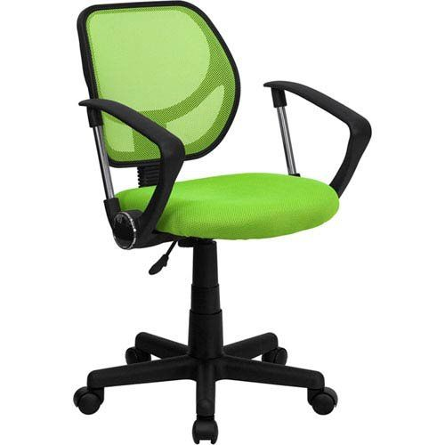 Parkside Green Mesh Swivel Task Chair Arms Mesh Chair