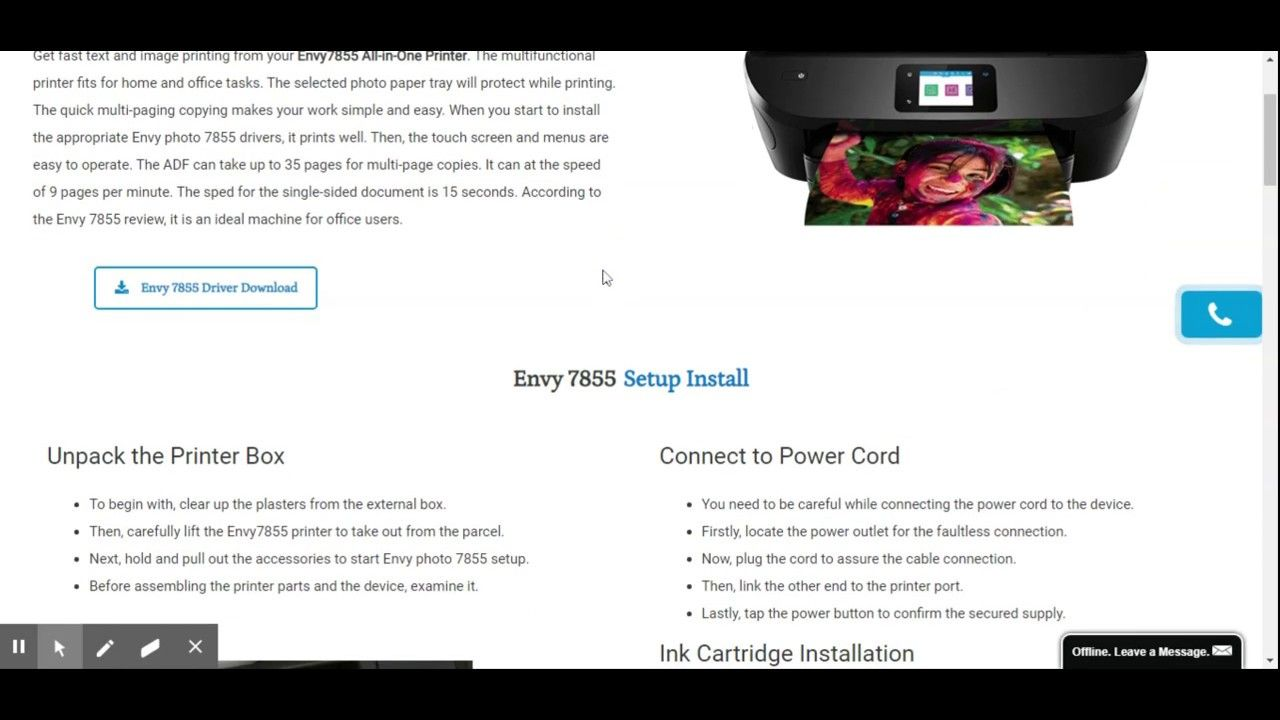 Envy 7855 Driver Download Software Installation In 2020 Installation Envy Software