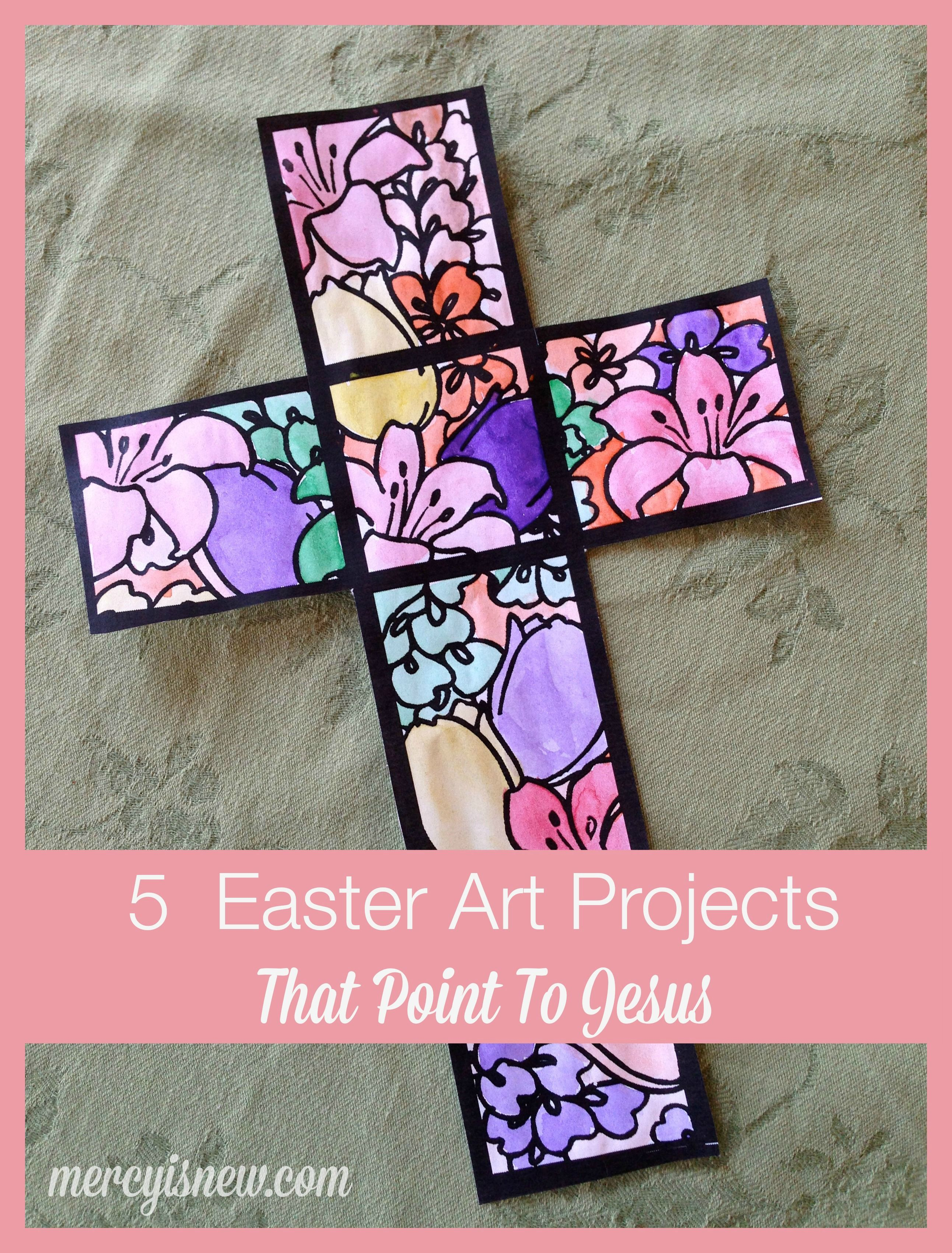 Easter arts and crafts ideas for children - 5 Easter Art Projects That Point To Jesus Mercyisnew Com