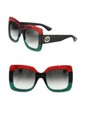 46cad87447 GUCCI 55Mm Oversized Square Colorblock Sunglasses.  gucci  sunglasses