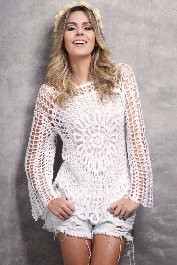 sin patron   Crochet primavera-verano   Pinterest   Patrones ...