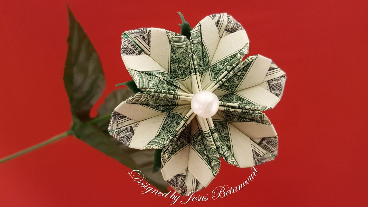 Pin By Jesus Betancourt On Dollar Origami Dollar Origami Money Flowers Origami Flowers