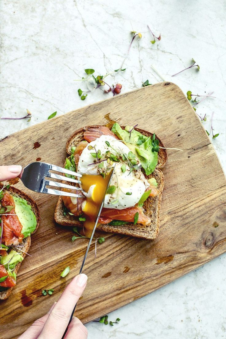 Smoked Salmon + Poached Eggs on Toast #deliciousfood