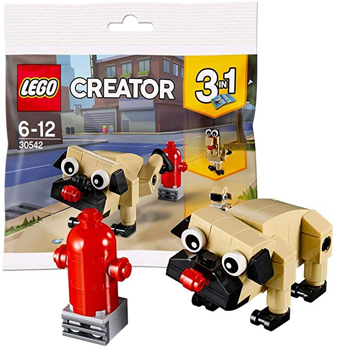 30542 Cute Pug Dog LEGO CREATOR 3in1 Rare Animal New /& Sealed