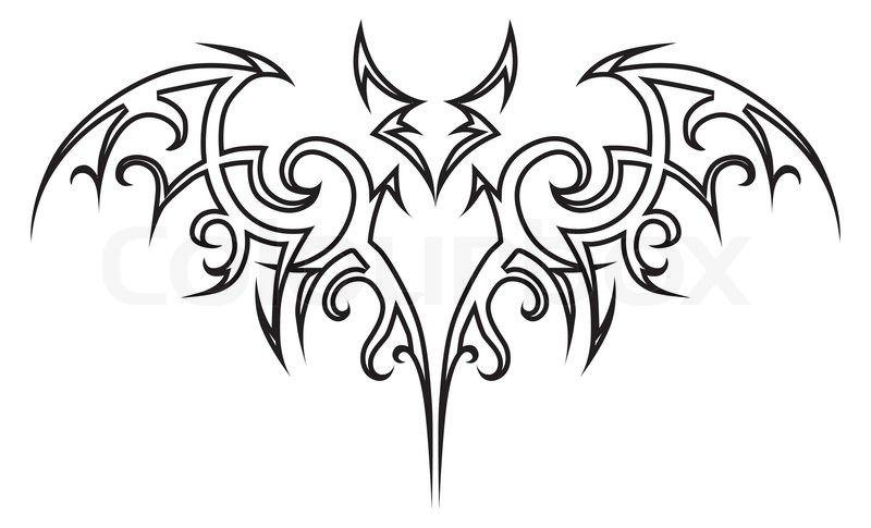 10 Tribal Vampire Tattoo Designs Tatuajes Tribales Disenos De Tatuajes Tribales Alas Tribales