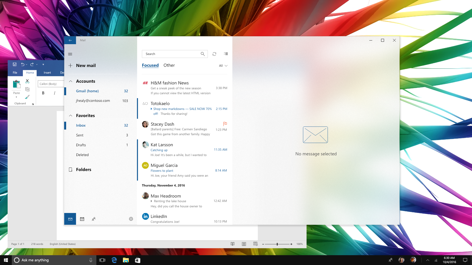 Digital Design Is Never Done Evolving Windows 10 Mail And Calendar