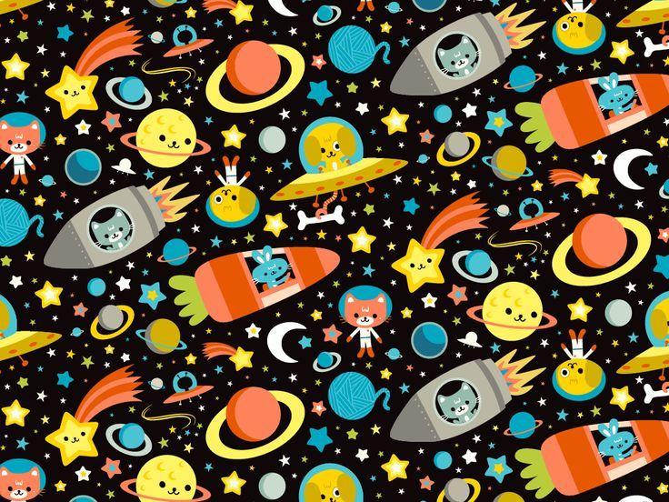 Cute Pattern For Kids Love The Carrot Rocket