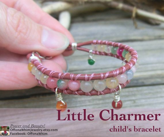 Childs Handmade Gemstone Keepsake Bracelet  by OffOnAWhimJewelry, $18.50