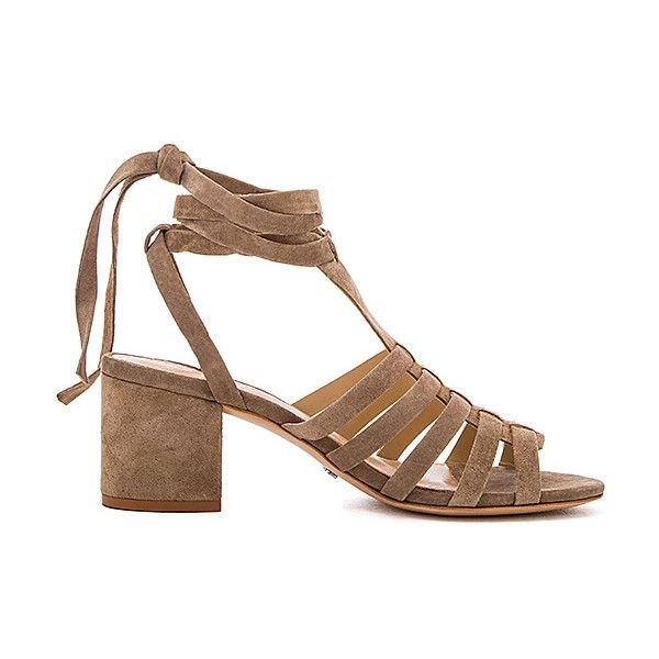 Schutz Melancy Sandal (271 AUD) ❤ liked on Polyvore featuring shoes, sandals, cut out sandals, mid heel shoes, leather sole shoes, cut out shoes and schutz shoes