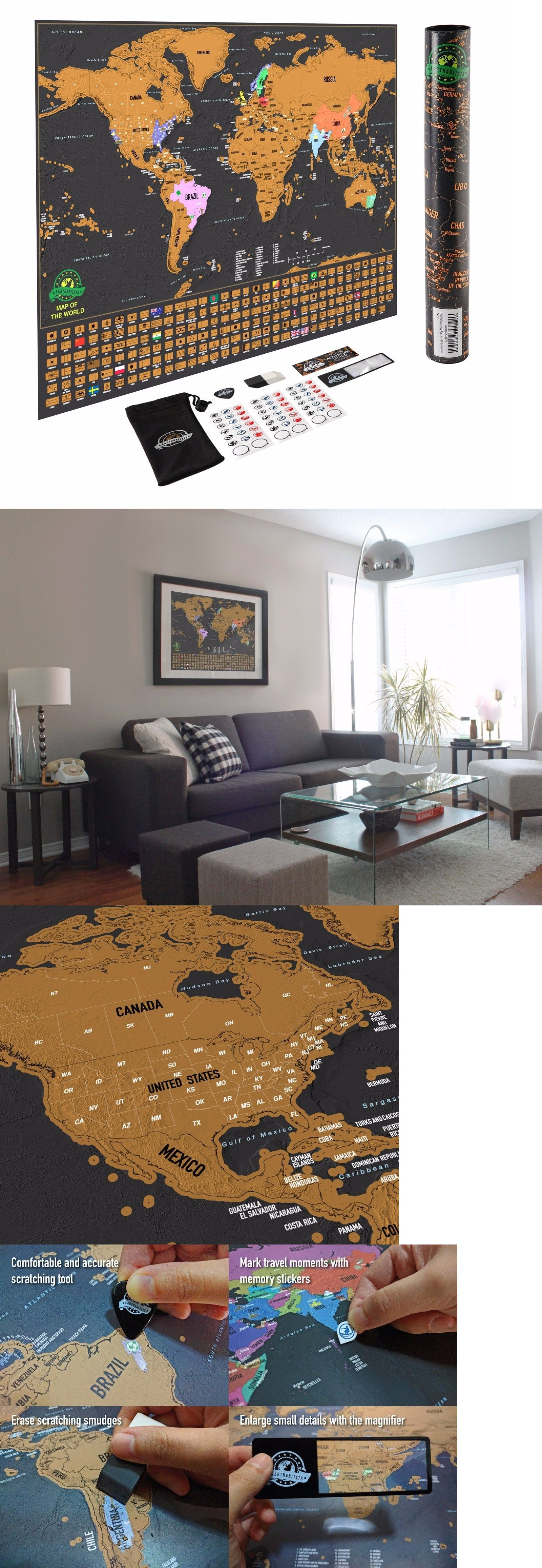 Other Travel Maps  Scratch Off World Map Poster With Us - Us travel map poster