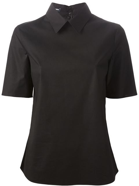 Jil Sander Navy Pointed Collar Shirt - Chin's - Farfetch.com