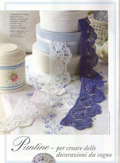 название | Lace borders (crochet) | Pinterest | Puntas de ...