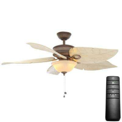 Costa Mesa 56 In Led Weathered Zinc Ceiling Fan With Light Kit And Remote Control Ceiling Fan