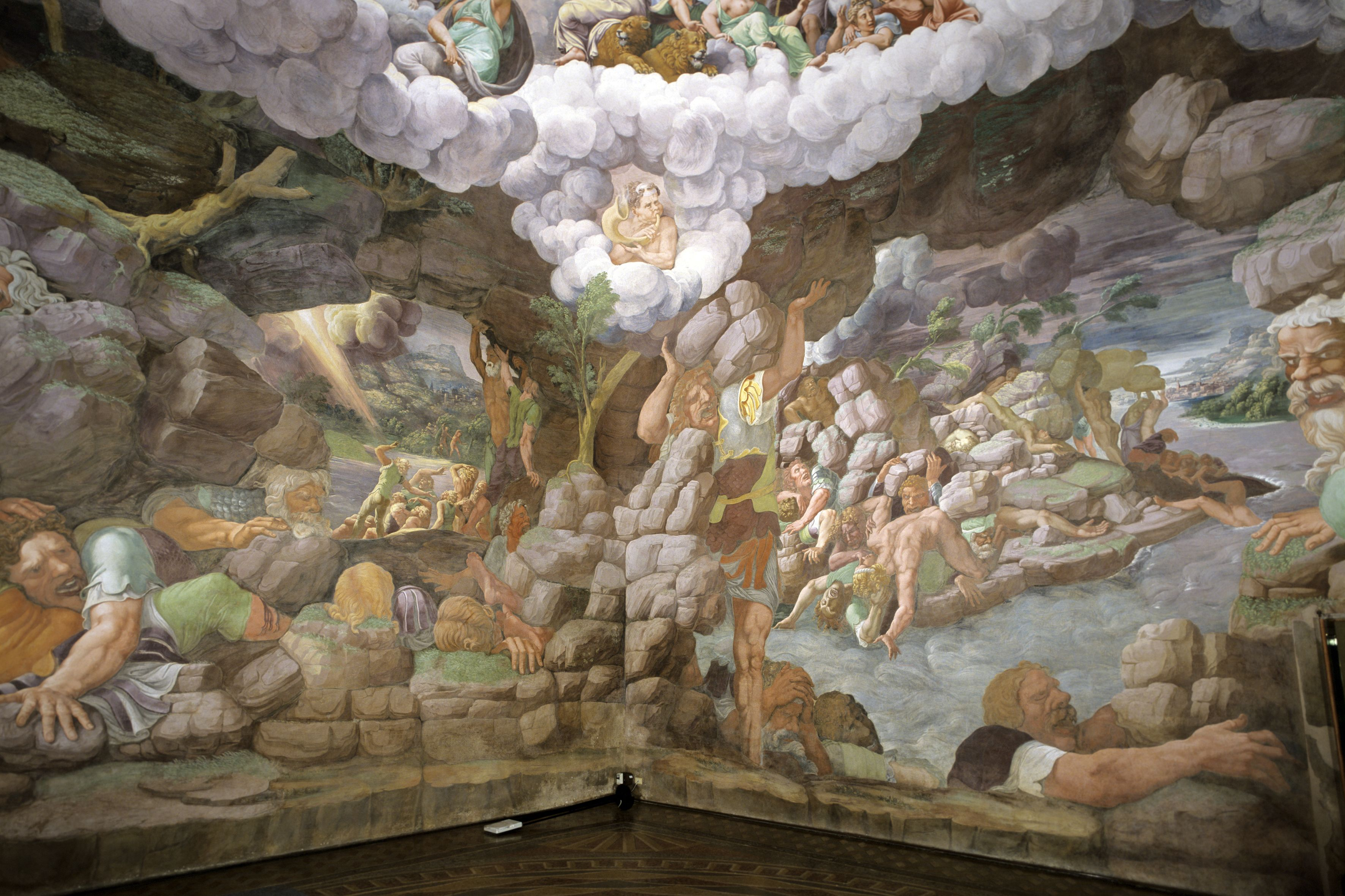 Palazzo te giulia romano camera dei giganti soffitto for Camera dei