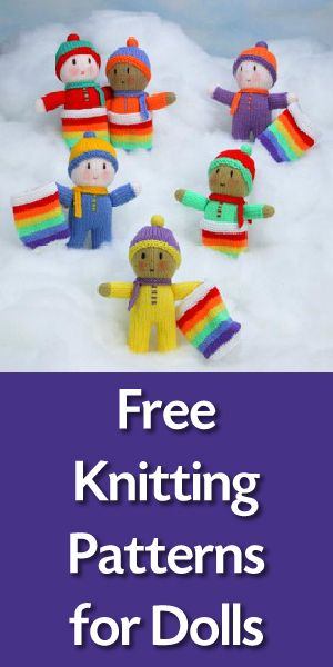 Free Knitting Patterns for Dolls #knitteddollpatterns
