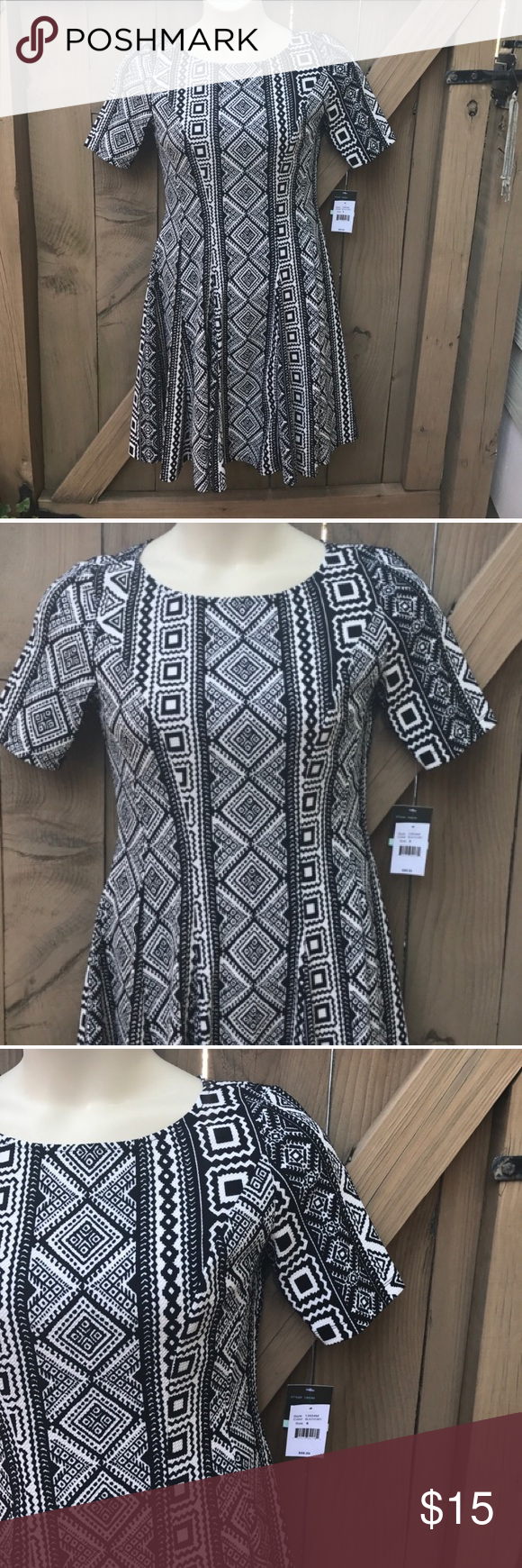 NWT Gabby Skye fit and flare aztec dress size 8 NWT size 8 Gabby Skye fit and flare aztec dress Gabby Skye Dresses