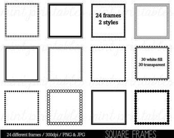 Square Frames Clipart Clip Art Borders ArtScalloped Edge