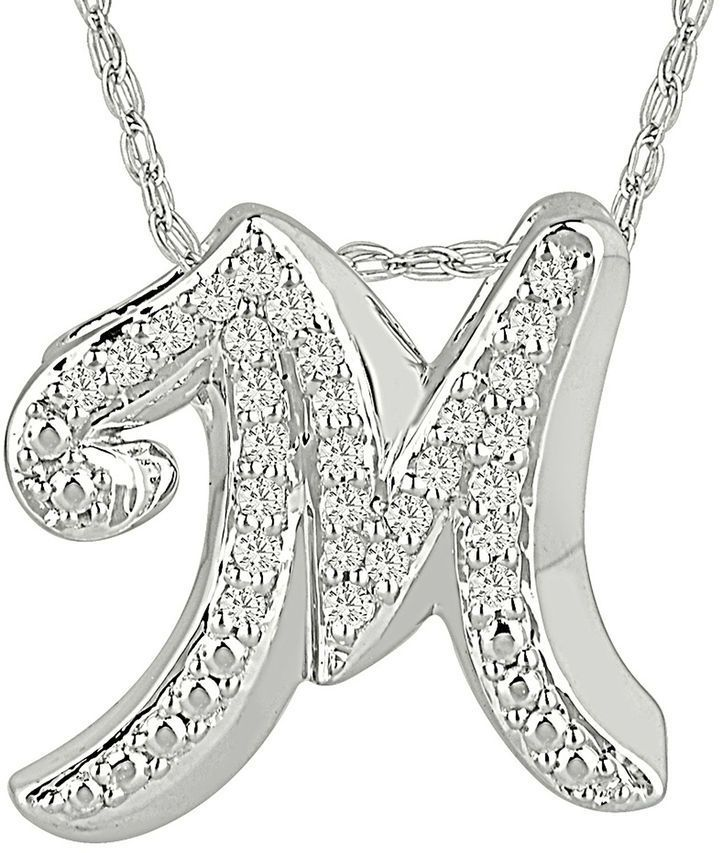Fine Jewelry 1/7 CT. T.W. Diamond Sterling Silver Initial D Pendant Necklace OR6MNp4ON