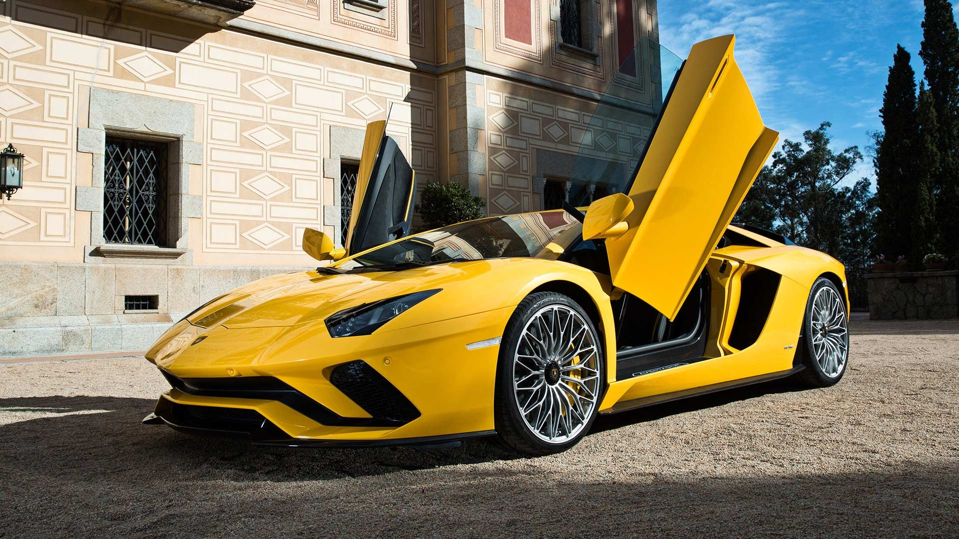 doors open versace lamborghini walldevil wallpaper