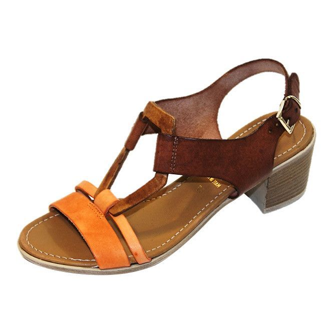 """""""Brianna"""" Leather Sandal in Natural"""