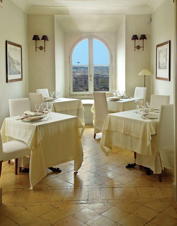 Sala Gianicolo - your private window on Rome #restaurant #exclusive #panorama #secret