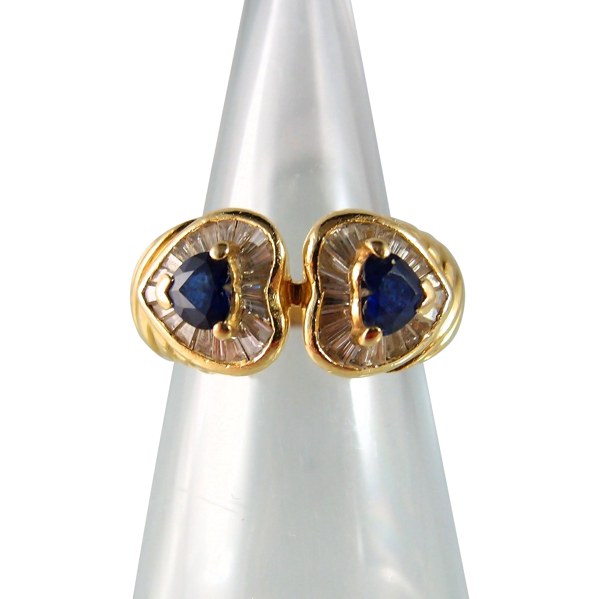 stacking meredith band baguette rose product blue sapphire latham jo ring josephine marks category gold