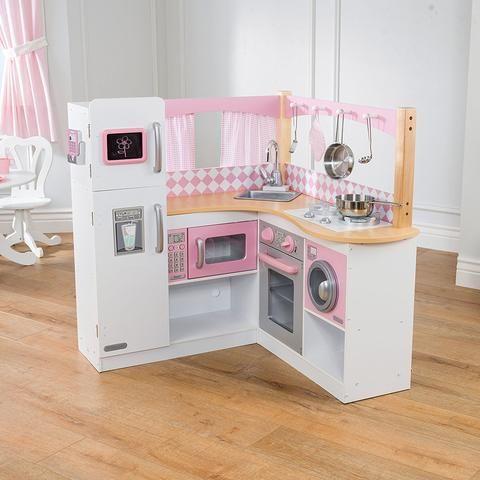 kidkraft grand gourmet corner kitchen 53185 | wooden play