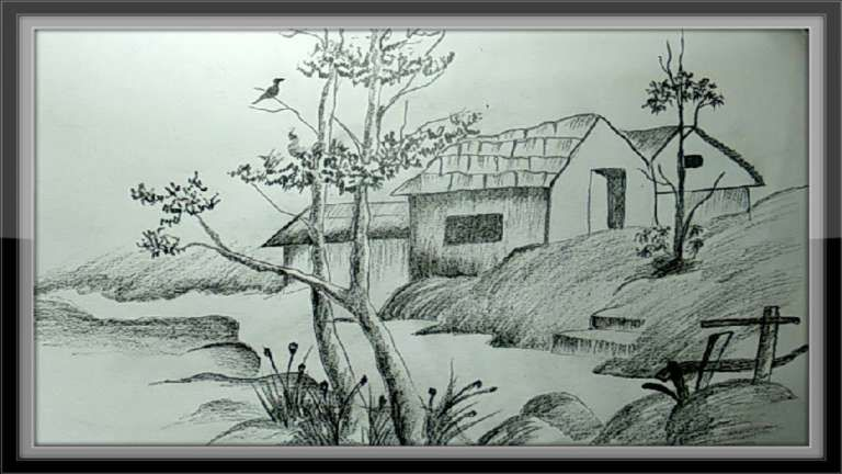 16 Pencil Drawing Images Of Nature Nature Drawing Drawingpencilwiki Com In 2020 Nature Drawing Nature Sketch Pencil Drawings Of Nature