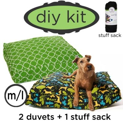 Best dog bed idea ever. Two duvet covers and a stuff sack ...