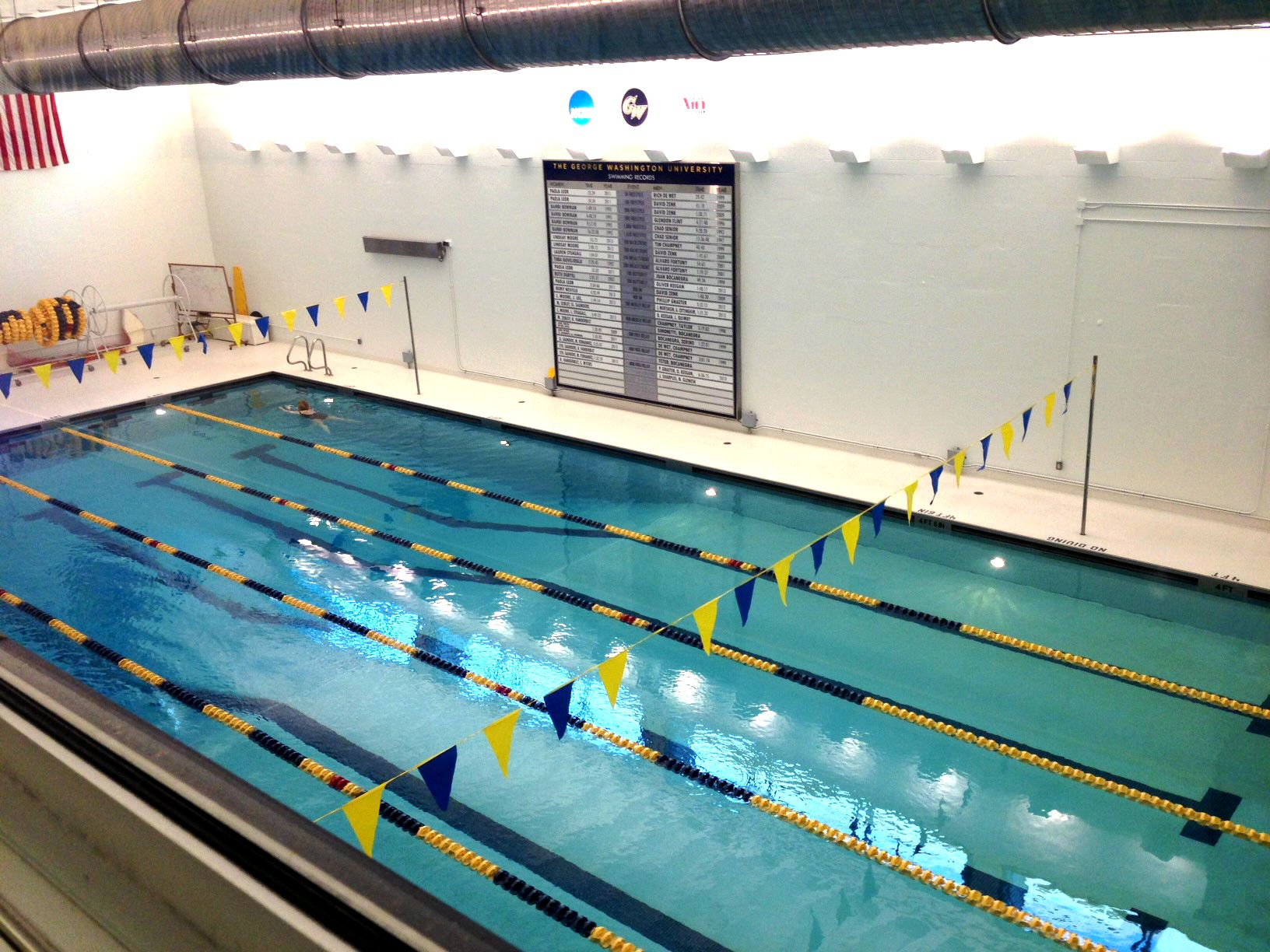 View Of The Smith Center Pool From The Colonials Corridor Above Smith Center Center Pool Fun