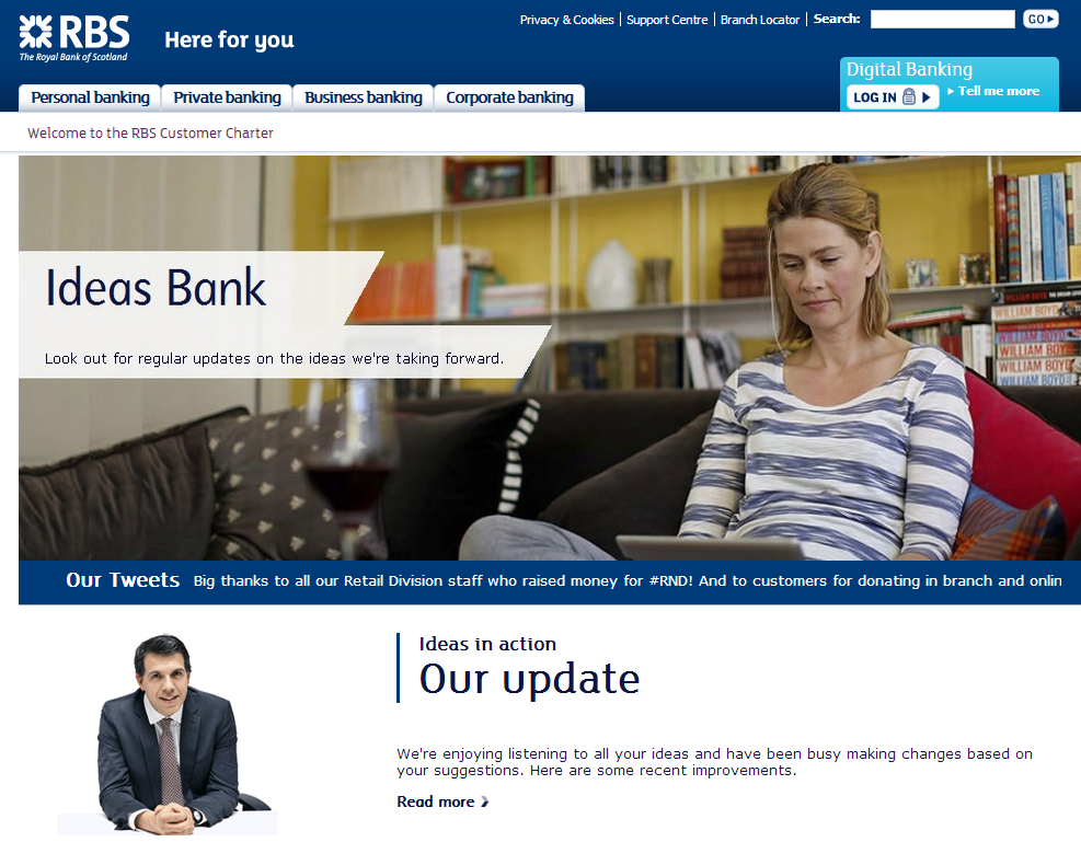 Rbs Banks On Open Banking Innovation With Ideas Bank