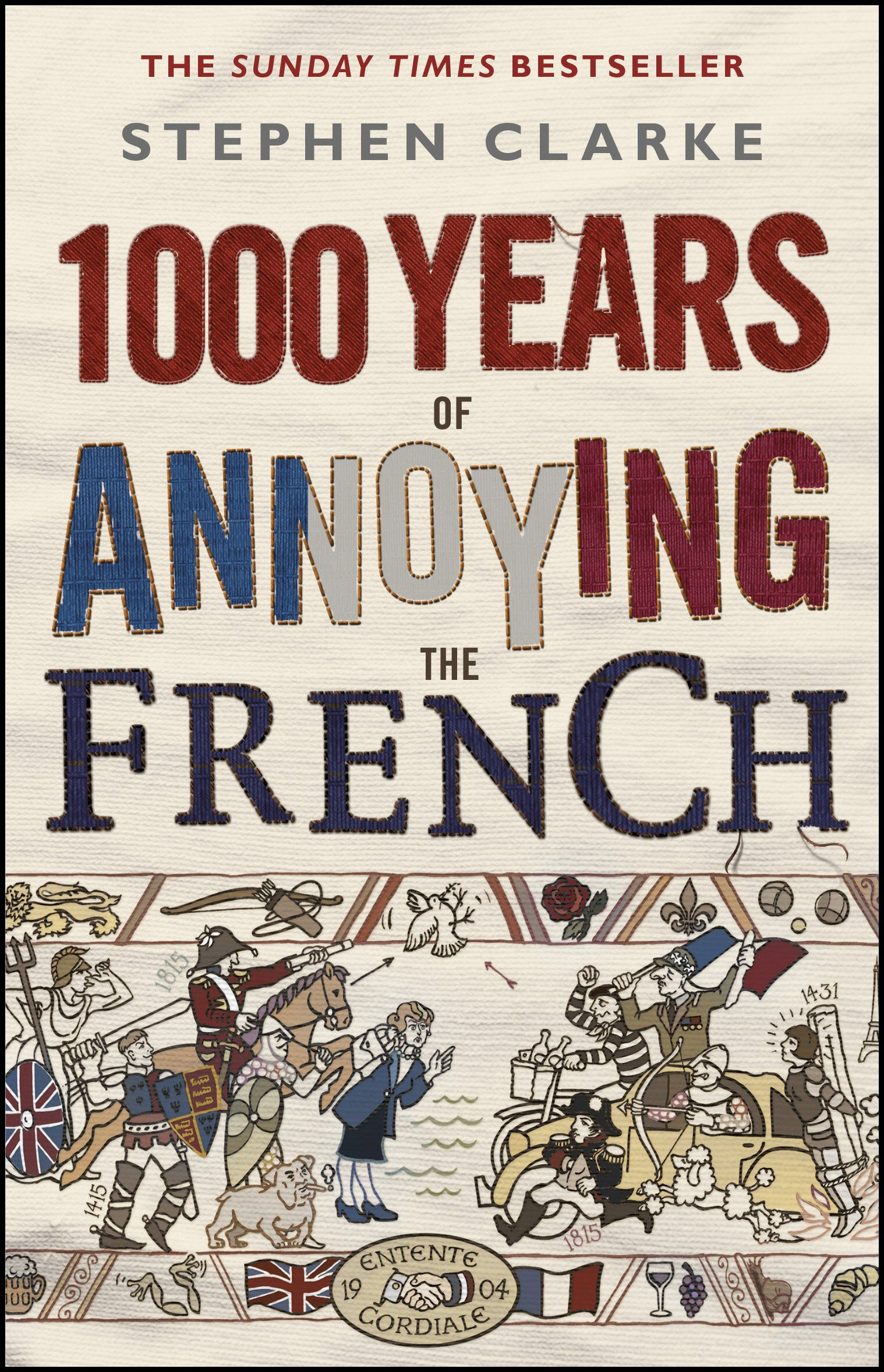 "Laure G #CybookReads ""1000 years of annoying the French"" de Stephen Clarke.  Bon week-end à vous #VendrediLecture"