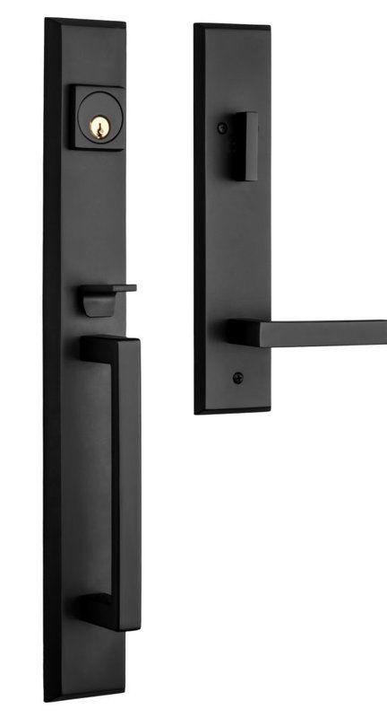 Premium Lumina Handleset With Single Cylinder Deadbolt And Door Lever And Rosette Front Door Handles Exterior Door Hardware Door Handles Modern