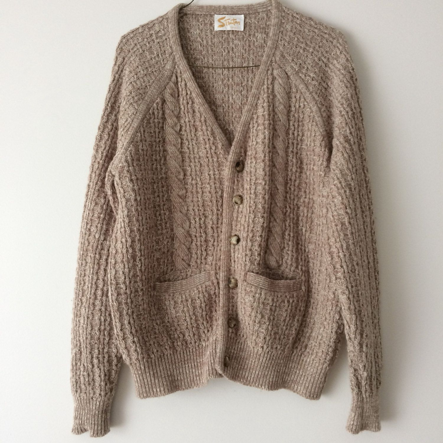 Vintage Oversized Knit Sweater Knitted Womens Mens Sweaters