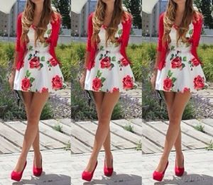 Looooove the red floral print