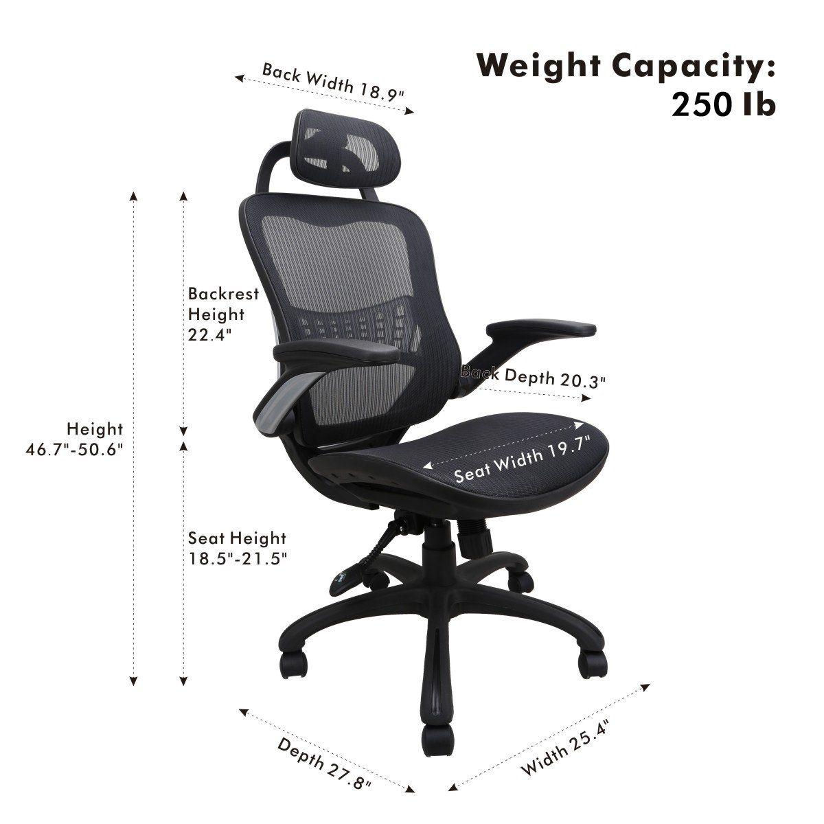 Ergonomic Mesh Office Chair Komene Swivel Desk Chairs High Back Computer Task Chairs With Adjustable B Office Chair Executive Office Chairs Office Desk Designs