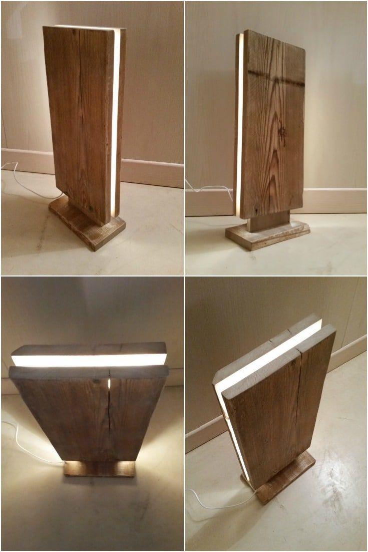 Reclaimed Wood Led Stehleuchte Stehlampen Holzlampen