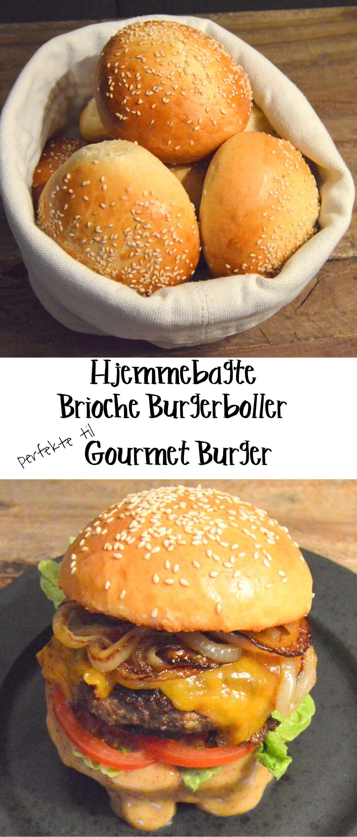 Brioche Burgerbolle Opskrift Madopskrifter Mad Ideer Og Sund Mad