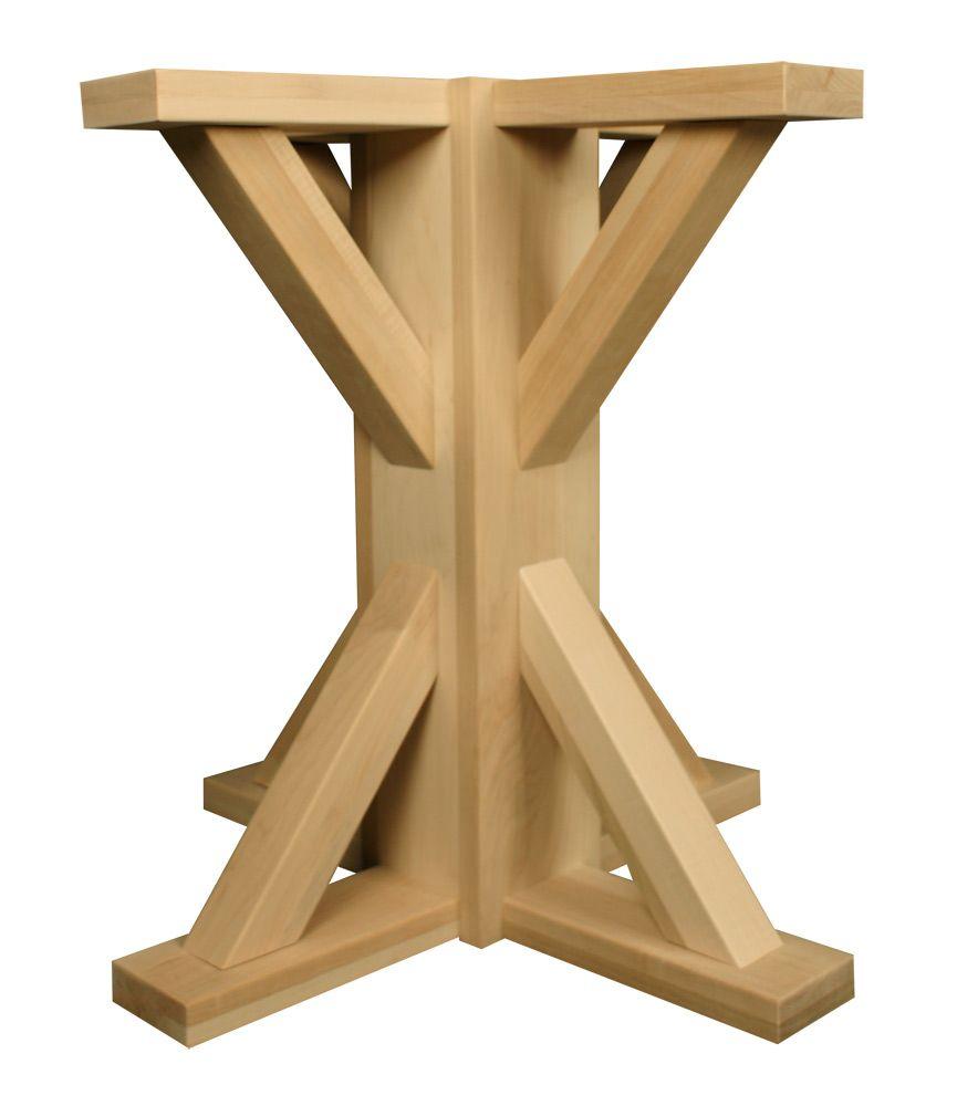 Craftsman Square Pedestal Pedestal Table Base Wood Pedestal