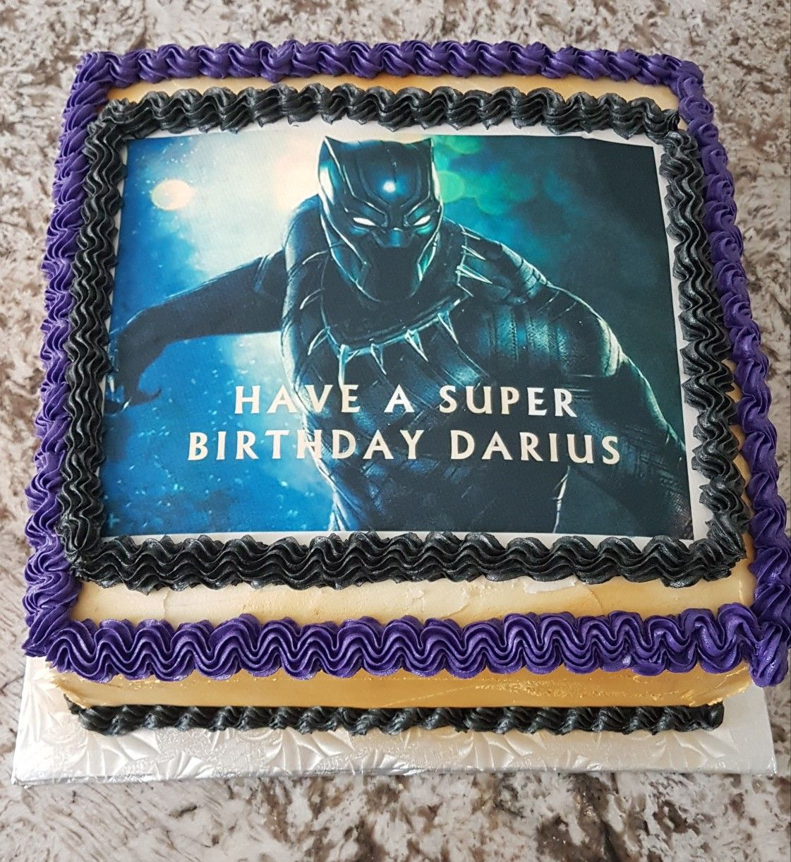 Black Panther Birthday Cake With Images Boy Birthday Parties