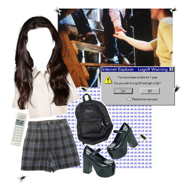 """""""ew skoul"""" by littleflowergirl ❤ liked on Polyvore featuring Punkt."""