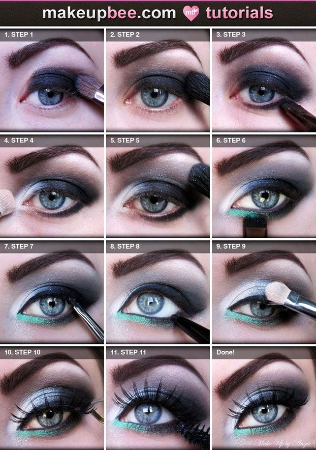 Disco Eye Shadow Tutorial Eyeshadow Makeup Beauty Blue Eye