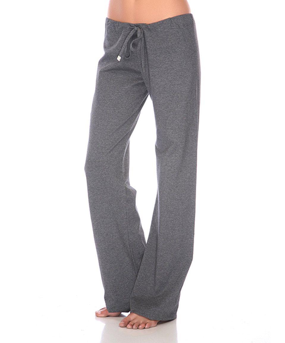 Loving this Honeydew Intimates Charcoal Drawstring Yoga Pants on #zulily! #zulilyfinds
