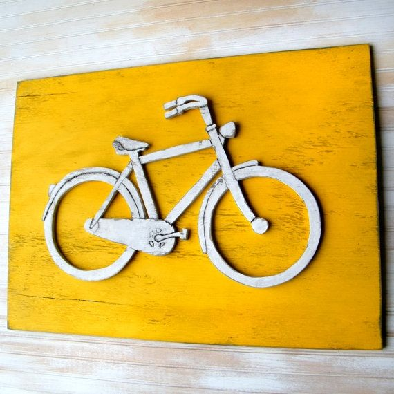 Bicycle Art Wooden Bike Sign Large Bicycle Wall by SlippinSouthern ...
