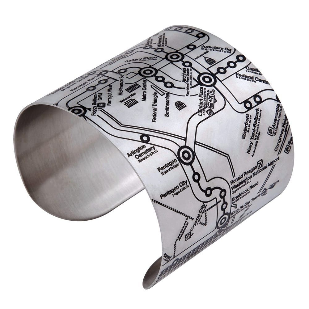 Washington DC Metro Map Cuff Bracelets