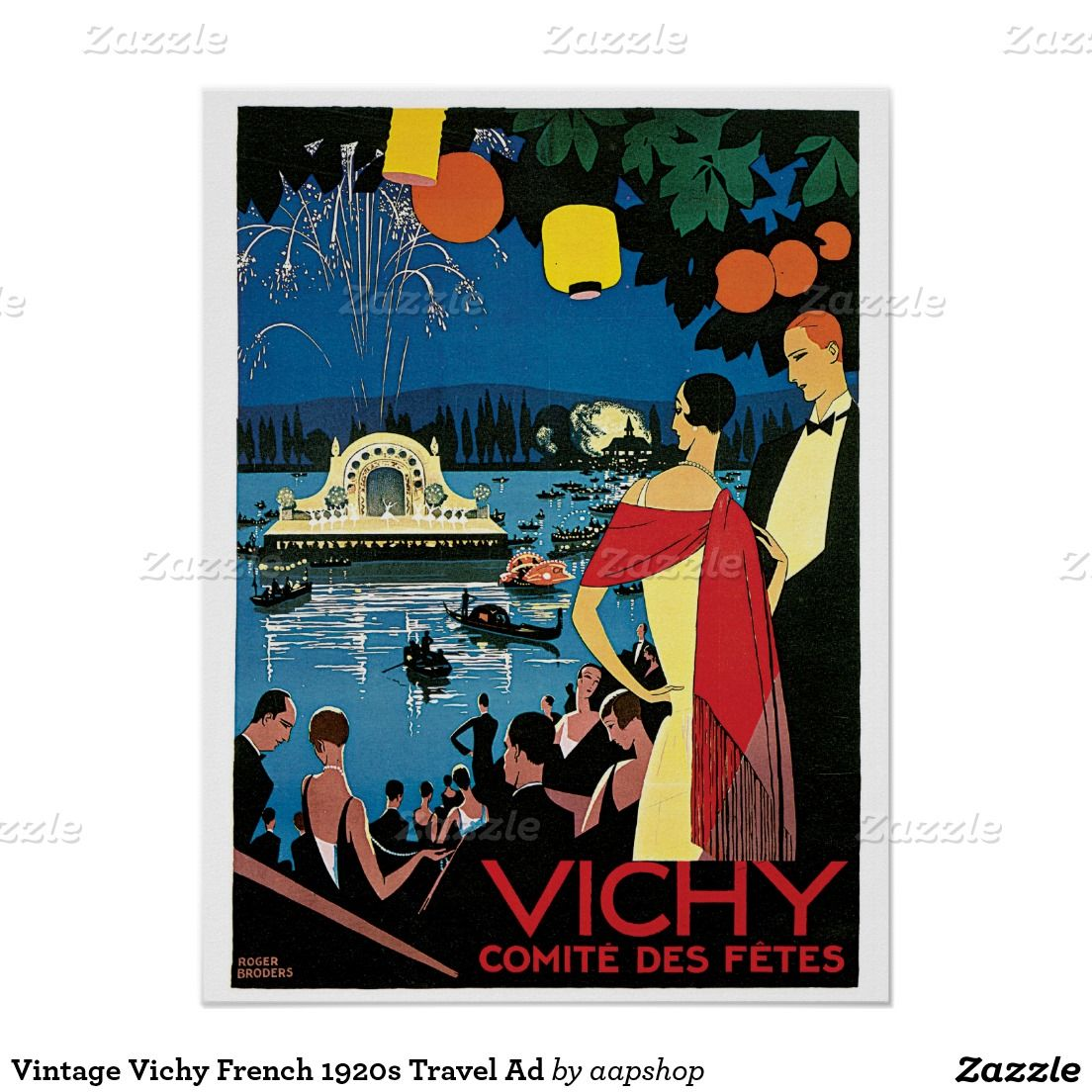 Zazzle poster design - 1920s Travel Posters Zazzle