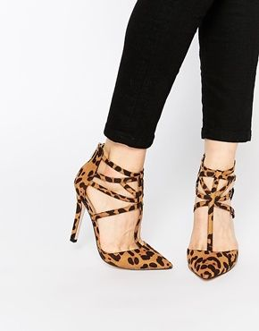 Buy Women Shoes / Asos Placement Caged Pointed Heels