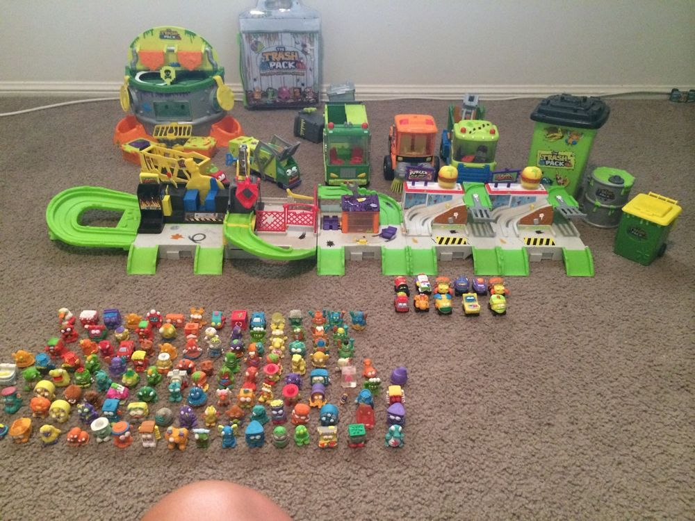 Trash Pack Wheels Town Lot Playsets Gas N Go Junk Yard Cars Figures Accessories