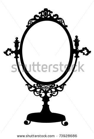 Silhouette of antique makeup mirror by Ela Kwasniewski, via Shutterstock